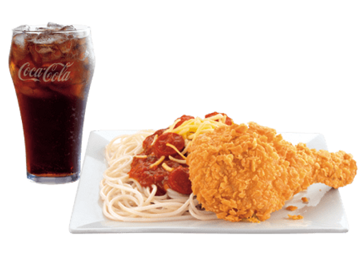 Chicken McDo 1pc + McSpaghetti + Reg. Drinks