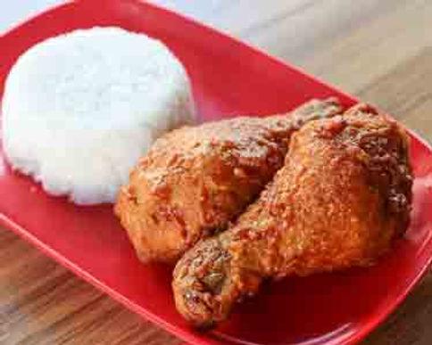 2Pcs Garlic Chicken + Rice + Drinks