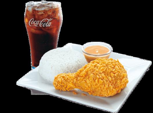 Chicken McDo 1pc + Rice + Reg. Drinks