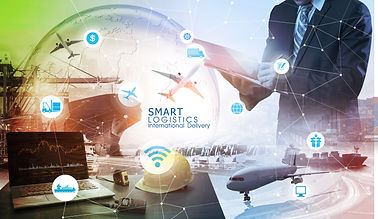 Smart technology concept with global log