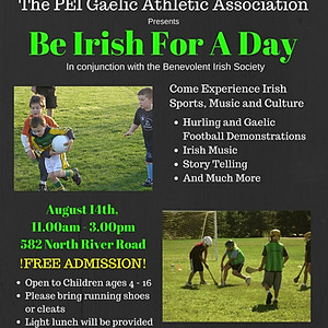 Irish Youth Day In Conjunction with PEI GAA
