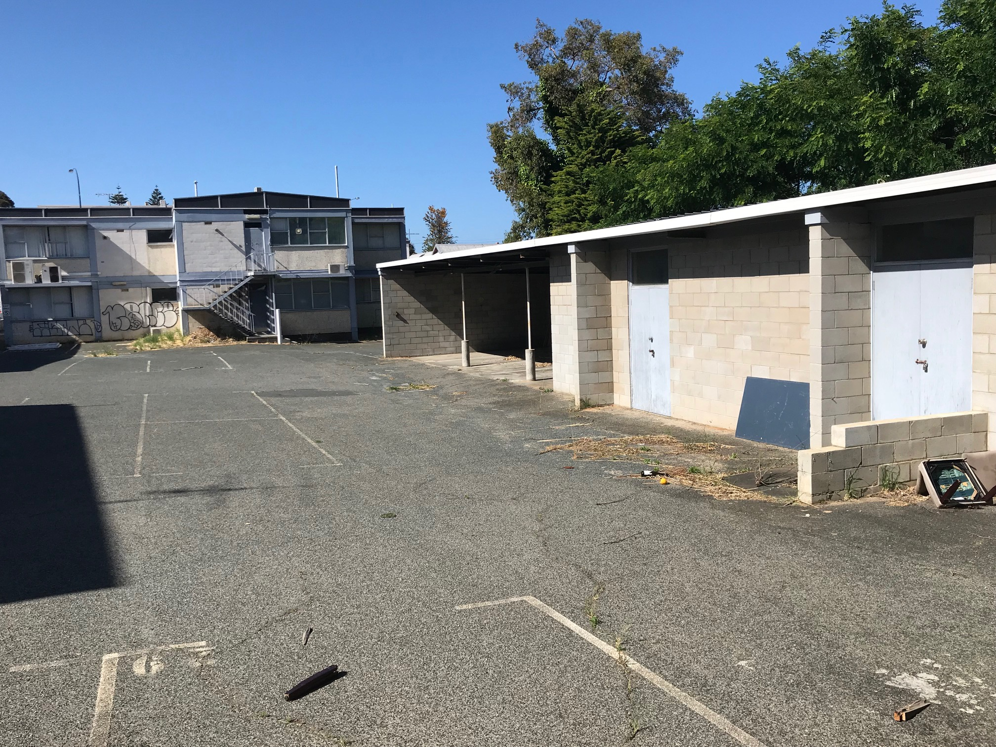 Rear Storage and Car Park