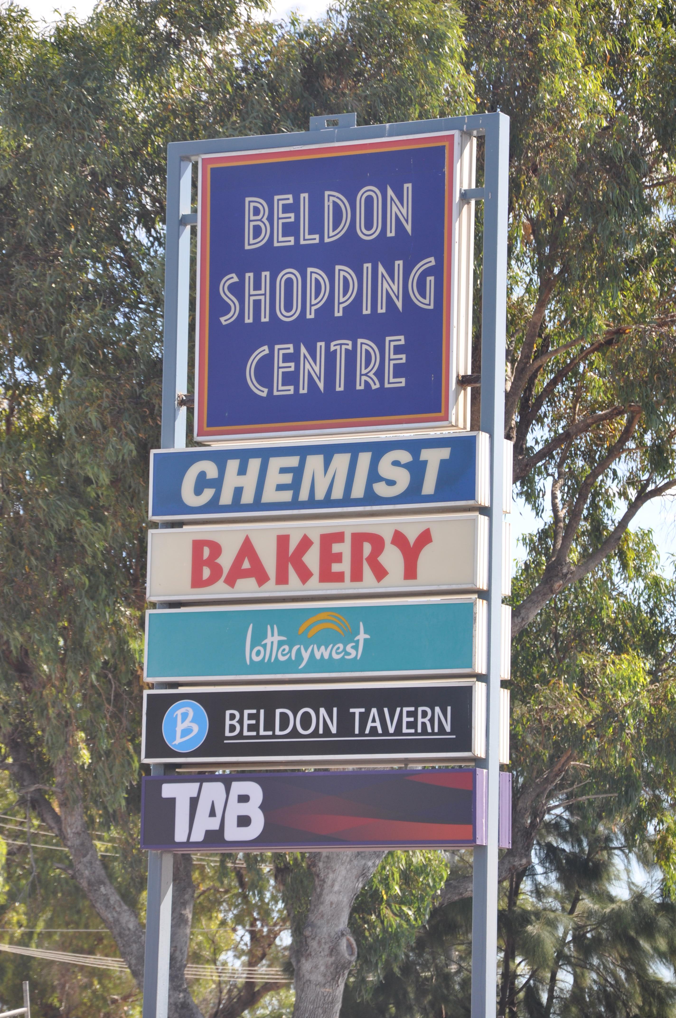 Beldon Shopping Centre Sign