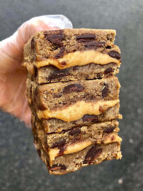 Peanut Butter Cookie Dough Slices