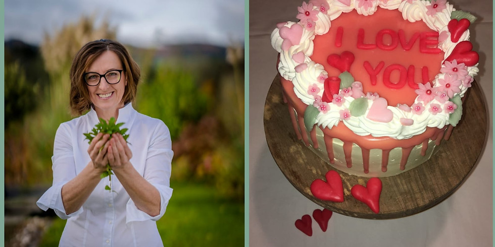 Drip Cake für Verliebte zum Valentinstag