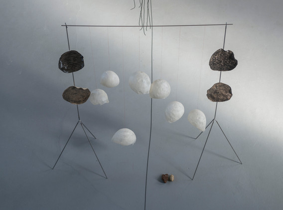 installation view, small shapes exhibiti