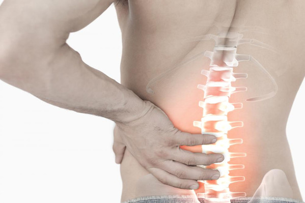 An image highlighting lower back pain
