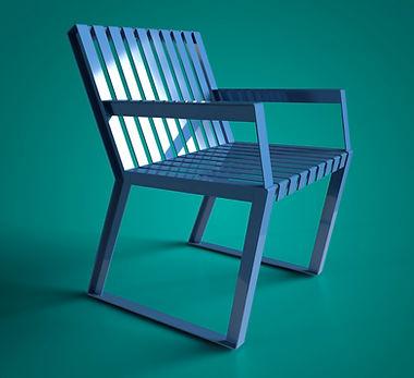 mobiliario urbano neko city silla azul mérida