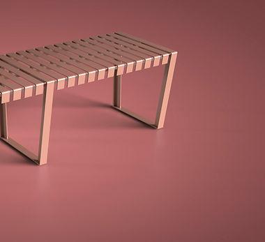 Urban furniture Neko City merida banca rosa MDA-17-05