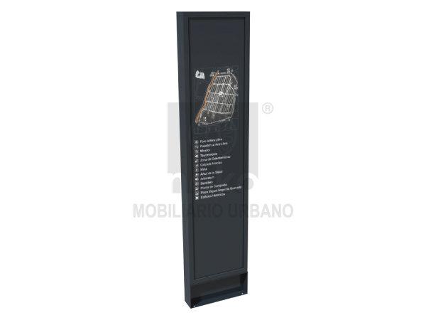 MOR-15-15-A - Estela de señalización en acero - Línea Morelia