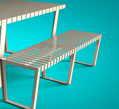 Urban furniture Neko City merida picnic gris MDA-17-04