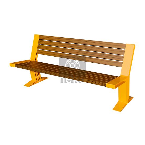QRO-10-02 - Banca con respaldo en madera - Línea Querétaro