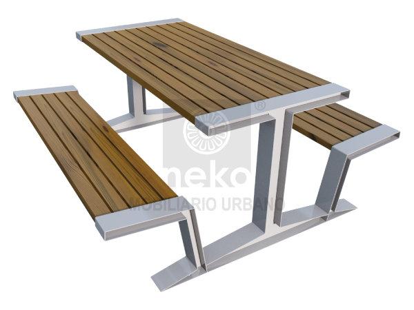 QRO-10-13 - Mesa para picnic en madera - Línea Querétaro