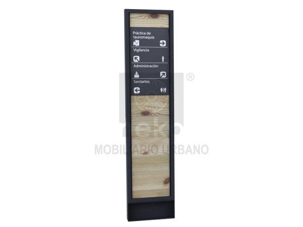 MOR-15-15 - Estela de señalización con madera - Línea Morelia
