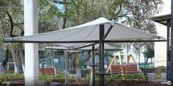 Detalle de la sombrilla o Parasol giratorio Toluca