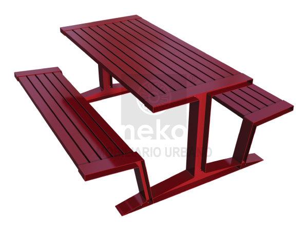 QRO-10-12 - Mesa para picnic en acero - Línea Querétaro