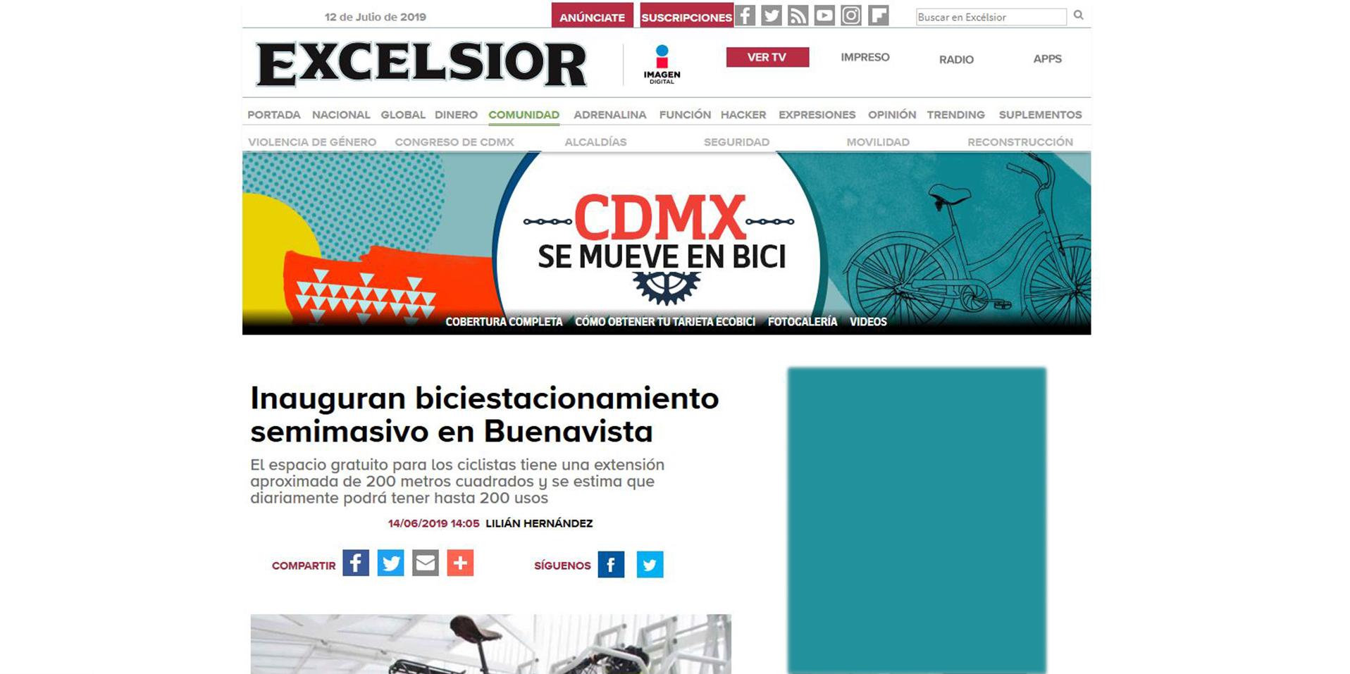 Excélsior_nota_Biciestacionamiento_Neko
