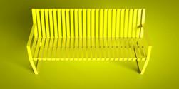 Banca con respaldo,  amarillo limón | Neko City MDA-17-02
