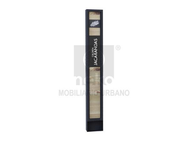 MOR-15-14 - Letrero informativo con madera - Línea Morelia