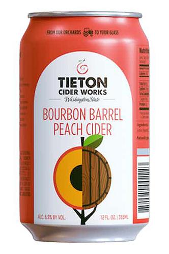 Tieton Peach Bourbon Cider-can