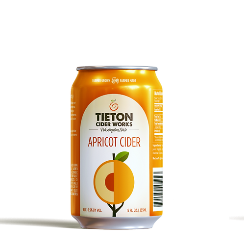 Tieton Apricot Cider-can