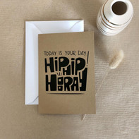 Glückwunschkarte – Hip Hip Hooray