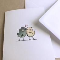 Grußkarte – Love Birds