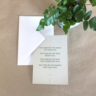 Grußkarte – Irish Blessing