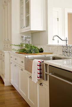 Kitchen with White Cabinets and a Farmhouse Sink