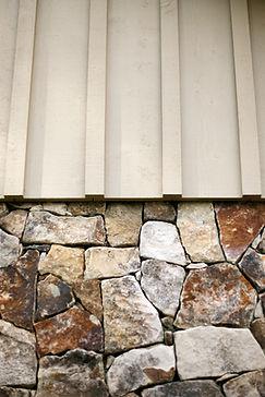 Stone Foundation With Board & Batten