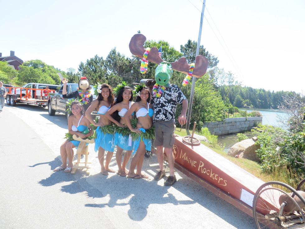Moose Fink at a parade