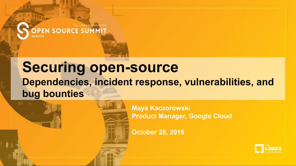 Open Source Summit EU 2019