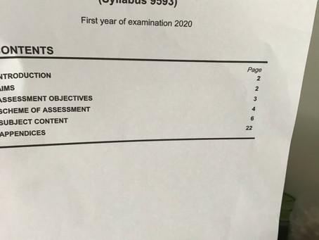 GCE A Level POA H2 9593 (New Syllabus)