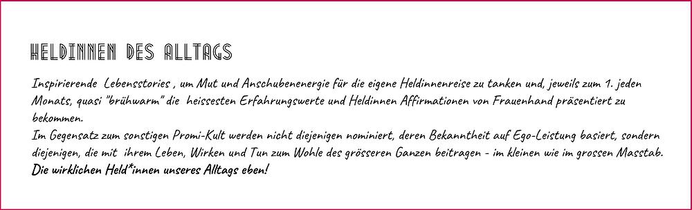 """Beschreibung """"Heldinnen des Alltags"""""""