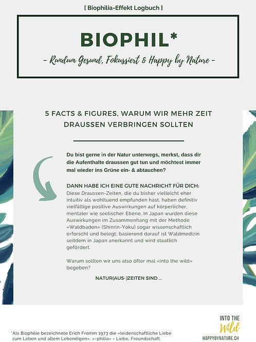 Biophilia-Effekt-Logbuch - Rundum gesund, fokussiert und Happy by Nature
