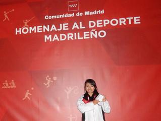 La maestra Bai Di  premiada y homenajeada en la Gala del deporte madrileño 2015