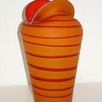 Orange and red art glass ART312O