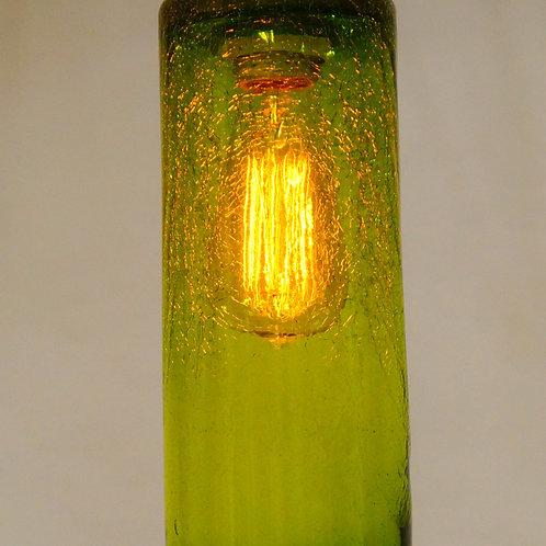 Green crackle pendent light L957