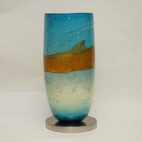 Aqua & amber table lamp TL2025