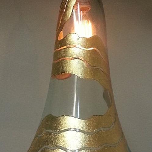elagant Gold leaf pendent L568