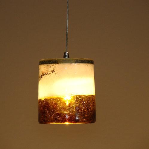 white and amber mini pendent light L337