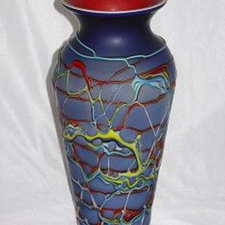 Blue vase art glass ART315B