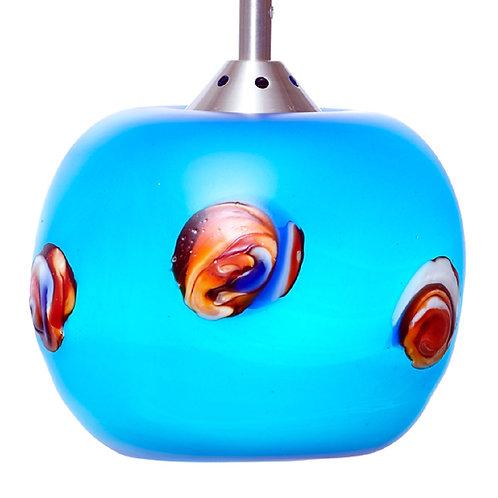 Turquoise Art Glass Pendent light L513