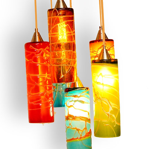 Ely's glass 6 lights chandelier  GL770