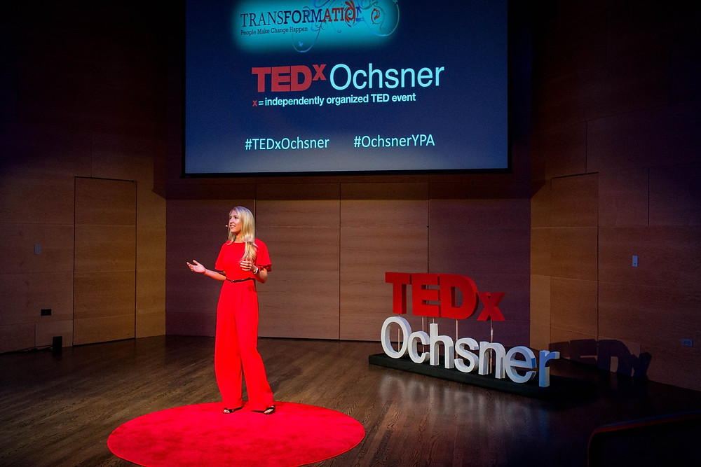 Kicking off the day as Emcee on the TEDx Red Dot. If you didn't know about the Red Dot, now you know! Photo Credit: Shannon Atkinson