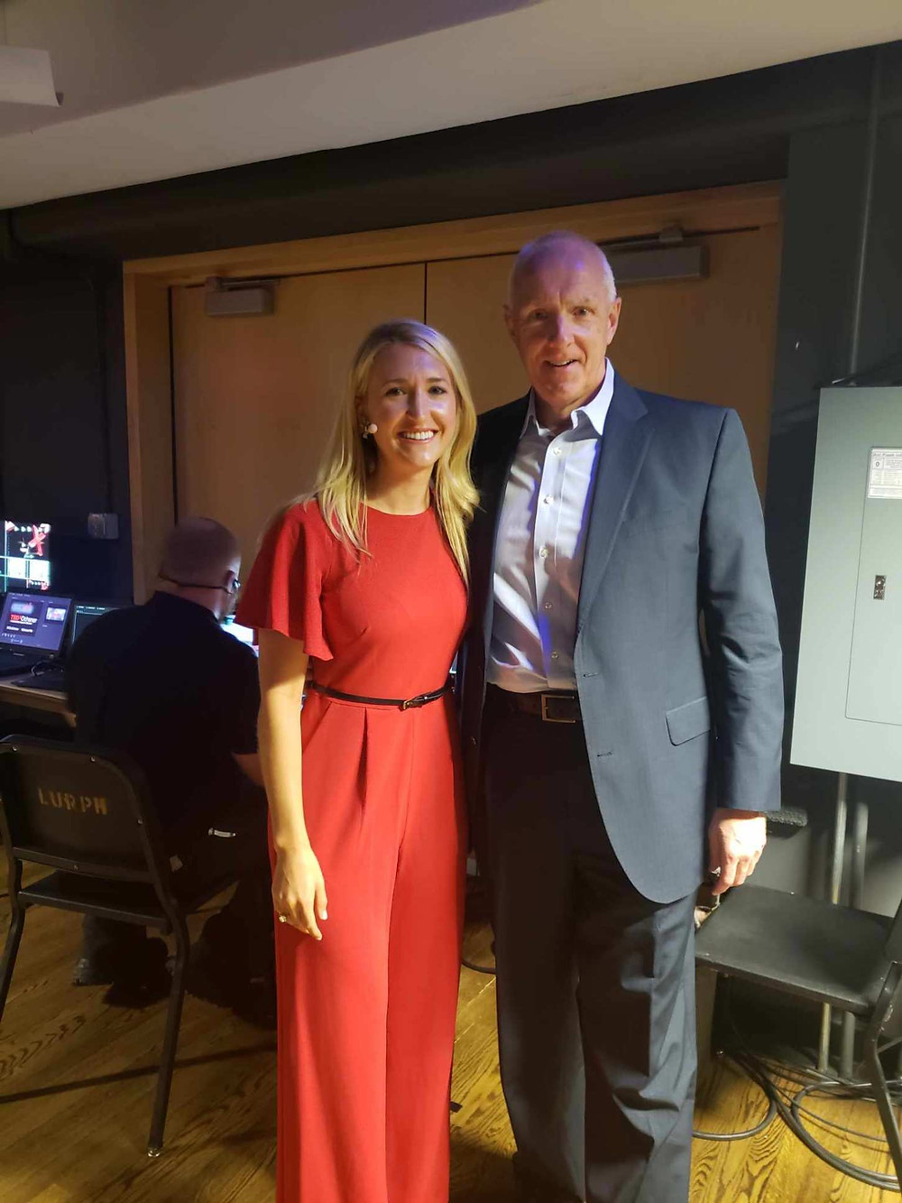 Backstage with Ochsner CEO and President, Warner Thomas.