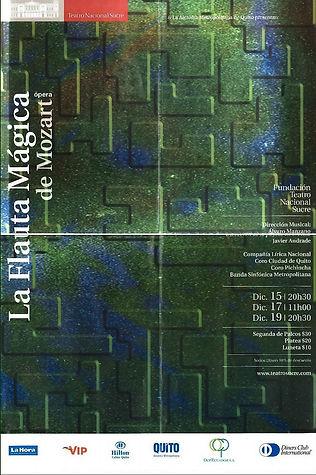 """""""La Flauta Mágica""""- afiche"""