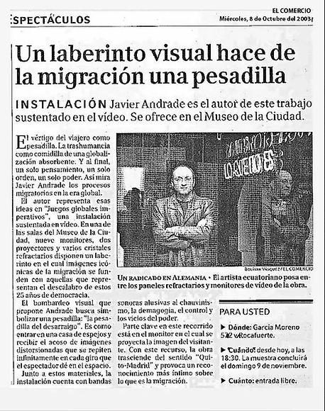 El Comercio. 08.10.2003