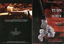 """The turn of the screw"" - programa"