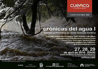 """""""crónicas del agua I"""" - Afiche"""